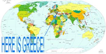 Science the wonders of greece this is the location of greece on the world map gumiabroncs Choice Image